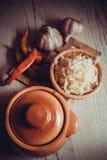 Salty sauerkraut recipe Royalty Free Stock Photography