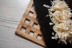 Salty sauerkraut recipe Royalty Free Stock Photo