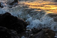 Salty sea royalty free stock photography