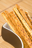 Salty sesame sticks Stock Image