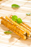Salty sesame sticks Stock Photography