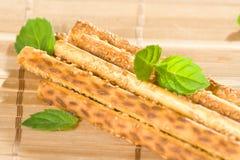 Salty sesame sticks Stock Image