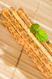 Salty sesame sticks Stock Photos