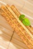 Salty sesame sticks Stock Photos