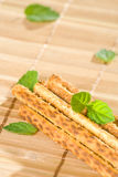Salty sesame sticks Stock Photo