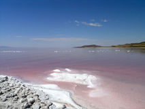 Salty shore of the great Salt Lake Stock Photography