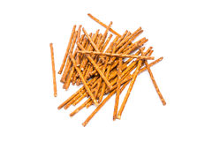 Salty Snack Sticks Isolated. On White Royalty Free Stock Photo