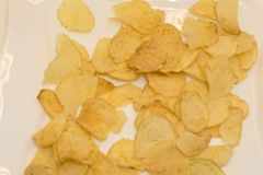 Salty snacks Pretzels chips crackers royalty free stock images
