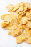 Salty snacks on a white background Royalty Free Stock Photo