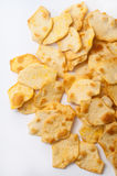 Salty snacks on a white background Royalty Free Stock Photography