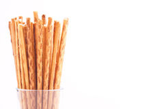 Salty stick crackers Stock Photo