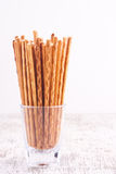 Salty stick crackers Royalty Free Stock Image
