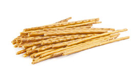 Salty sticks isolated Royalty Free Stock Images