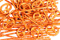 Salty sticks and pretzels Royalty Free Stock Image