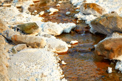 Salty stream near Lopatari Stock Photo