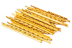 Salty and sweet pastry straws Royalty Free Stock Images