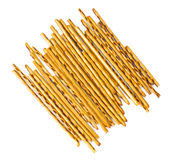 Salty and sweet pastry straws Stock Images