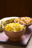 Salty and Sweet Plantain Chips Royalty Free Stock Photos