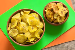 Salty and Sweet Plantain Chips Royalty Free Stock Photo