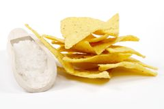 Salty tortilla chips Royalty Free Stock Photo