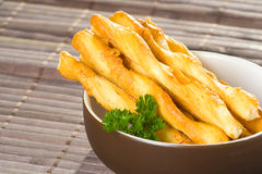 Salty twisted sticks Royalty Free Stock Images