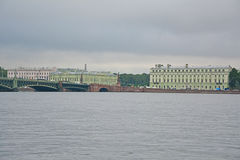 Saltykov' house and office case of Marble Palace Neva river in Saint Petersburg, Russia Stock Images