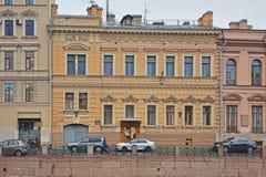 Saltykova& x27; s豪宅在圣彼得堡,俄罗斯 免版税库存图片