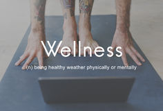 Salubrious Wellness Healthy Fitness Strong Powerful Concept.  stock photography
