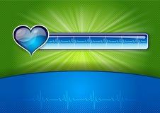 Salud azul ilustración del vector