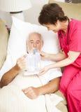 Salud casera - terapia respiratoria Fotografía de archivo