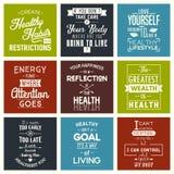salud Citas de la tipografía Foto de archivo