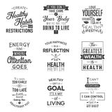 salud Citas de la tipografía Fotos de archivo