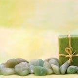 Salud con el jabón y las piedras herbarios Foto de archivo libre de regalías