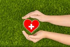 Salud de la familia, caridad y concepto de la medicina Foto de archivo libre de regalías