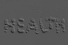 Salud de la inscripción Fotografía de archivo libre de regalías