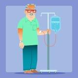 Salud de la medicina del dropper del hombre Foto de archivo libre de regalías