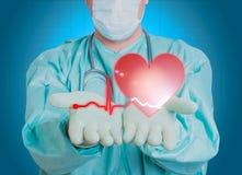 Salud del al de la ciencia de la medicina del corazón del doctor Fotografía de archivo