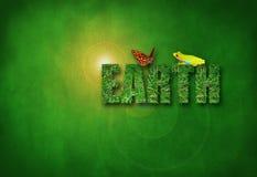 Salud del ambiente del día de TIERRA de la hierba verde foto de archivo libre de regalías