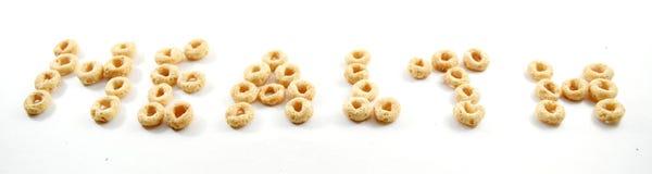Salud deletreada hacia fuera en cereal Imagen de archivo
