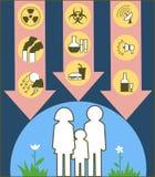 Salud destruida Imagen de archivo libre de regalías