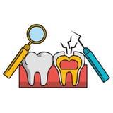 Salud e higiene del cuidado dental stock de ilustración