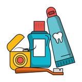 Salud e higiene del cuidado dental ilustración del vector