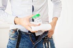 salud Esperma de la muestra Concepto del cierre de la esperma dispensadora de aceite de esperma del banco I imagenes de archivo