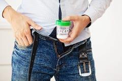 salud Esperma de la muestra Concepto del cierre de la esperma dispensadora de aceite de esperma del banco I fotos de archivo libres de regalías