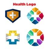 Salud Logo Template Imagen de archivo libre de regalías