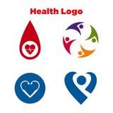 Salud Logo Template Fotografía de archivo