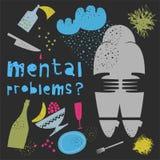 Salud mental Ilustración del vector imagenes de archivo
