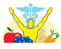 Salud, nutrición y medicina Foto de archivo libre de regalías