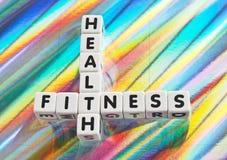 Salud y aptitud Imágenes de archivo libres de regalías