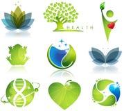 Salud y ecología stock de ilustración